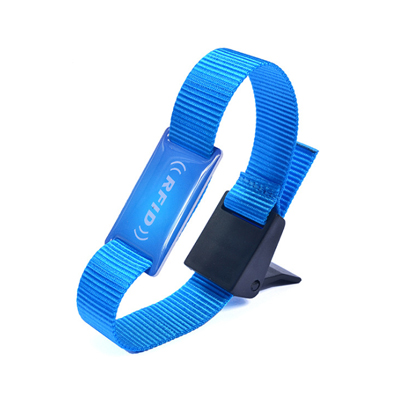 13.56MHz nylon woven wristband for events SRSW13